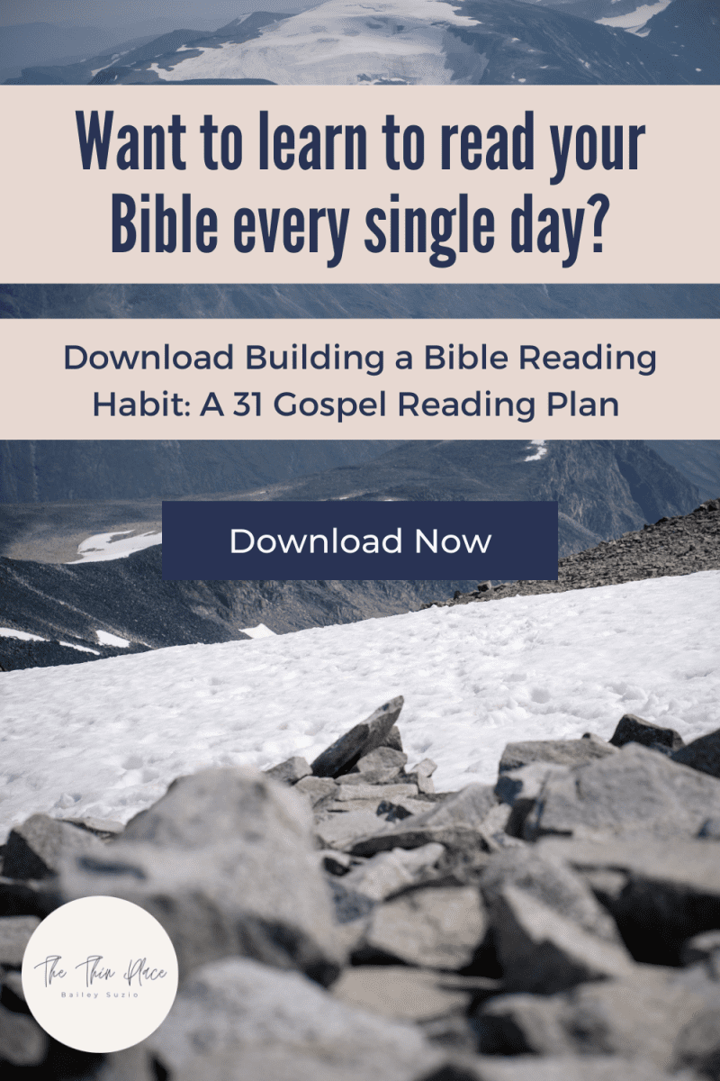 This 31 Day Bible Study will lead you through the Gospels and help develop a clear daily Bible reading plan #biblestudy #devotional #bibletime #biblereading #biblereadingplan